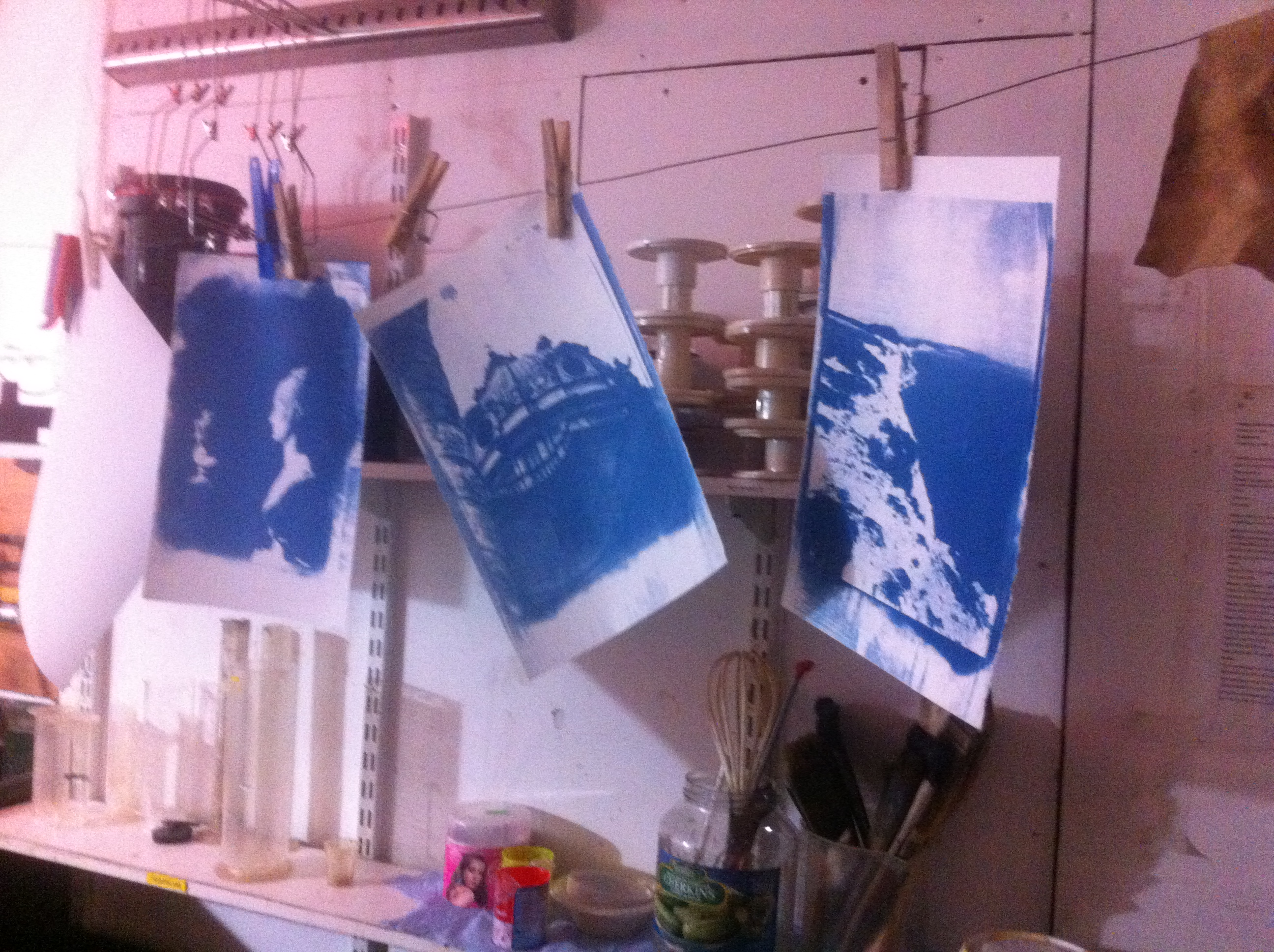 Smartphone to cyanotype workshop- DNDR
